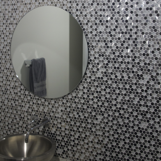 new grey honeycomb mosaic bathroom wall