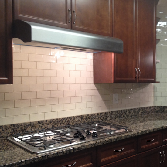 new subway tile kitchen backsplash