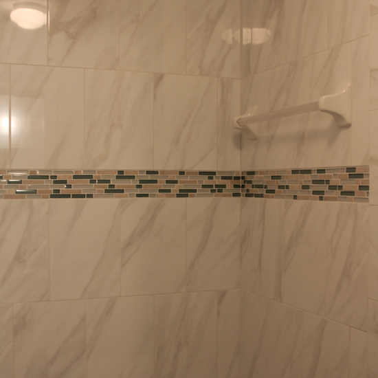 new marble tile shower